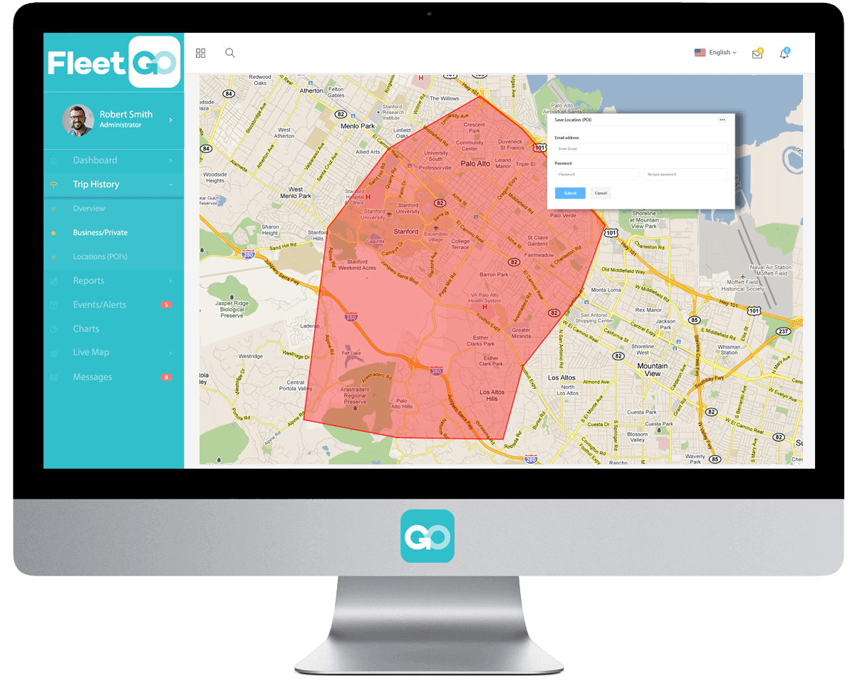 FleetGO Geofencing Fleet Tracking