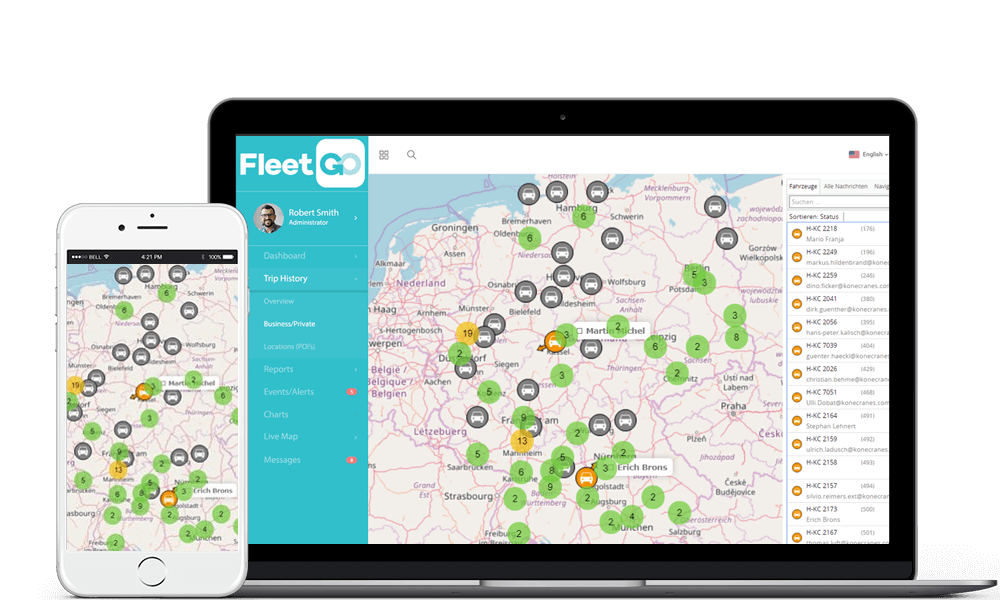 FleetGO Vehicle Telematics Fleet Tracking Software